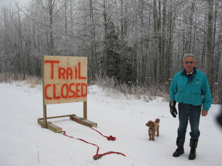 Alex,Lagger and Trail  Closed Sign