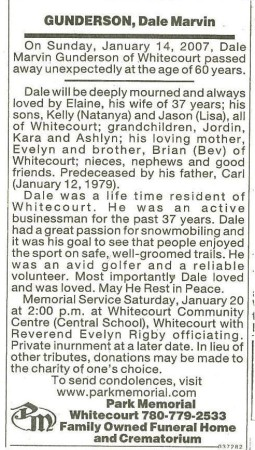 Dale Marvin Gunderson Obituary