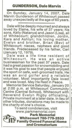 Dale Marvin Gunderson Obituary