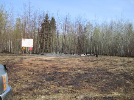 Summit Cabin burnt!