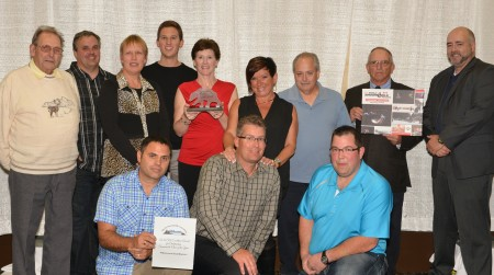 2015 ASA Excellence Awards - Club of the Year and Zone 16 Club of the Year and Promotions & Development Club of the Year Cyril Lanctot, Jim Hearn, Shirley Picard, Brad Guenette, Cindy Brooks, Mistie Linford, John White, Lyle Birnie, Chris Brookes, Dan Guenette, Ken Linford & Aaron Munro