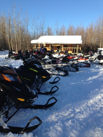 Dec 2013 A busy Sunday at the Summit Cabin