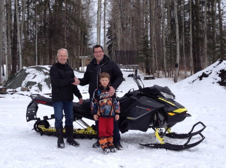 Winner of the Raffle SkiDoo = Gary Marriott