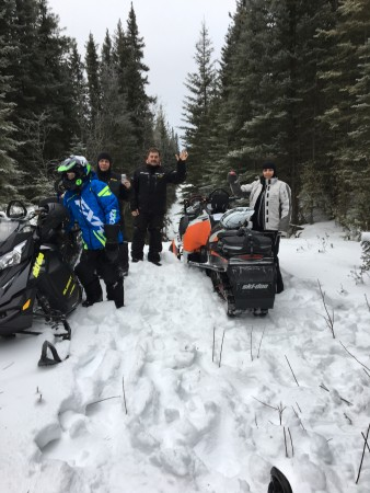 Jan 2017 Manweiler Trail, Jeff Brooks, Brett Brooks, Derek Rooks, Roxanne Brown