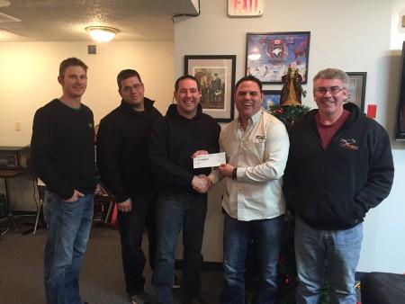 Pengrowth Donation - Kyle Labossiere, Ralph Potvin, Chet Brewster, Dan Guenette, David MacLeod