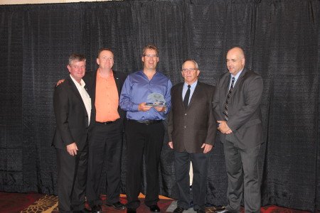 2014 ASPS Excellence Awards - Ken Linford won Snowmobiler of the year. Ken Vanburg, Jim Rennie, Lyle Birnie, Chris Brookes
